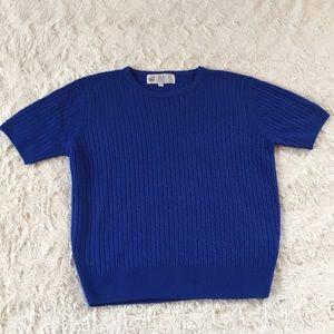 JACK Scotland 100% pure Cashmere Royal Blue knit S